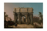View of the Arch of Constantine with the Colosseum  1742-1745