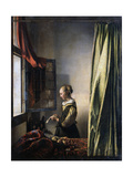 Girl Reading a Letter by an Open Window  Ca 1659