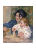 Gabrielle Renard and Infant Son  Jean  1896