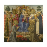 The Virgin and Child Enthroned Among Angels and Saints  1460S