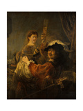 Rembrandt and Saskia in the Parable of the Prodigal Son  C 1635