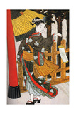 Girl on Her Way to the Shinto Shrine on a Stormy Night  18th Century
