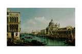 View of the Grand Canal and the Punta Della Dogana  Ca 1743