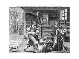 Feeding Silkworms  18th Century
