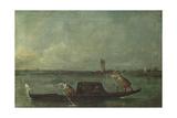 A Gondola on the Lagoon Near Mestre  after 1780