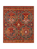 Sakya Order, Four Mandalas of the Vajravali Series (Thangk) Giclée