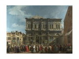 The Feast Day of Saint Roch in Venice  Ca 1735