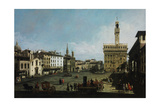 The Piazza Della Signoria in Florence  1742