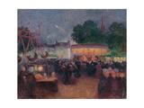 Night Fair at Saint-Pol-De-Léon  Ca 1896