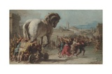 The Procession of the Trojan Horse into Troy  Ca 1760