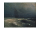 Storm at the Seashore by Nice  1885