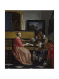 A Man and a Woman Seated by a Virginal  Ca 1665