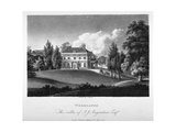 View of Woodlands House  Blackheath  Greenwich  London  1804