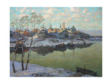 Early Spring  a City at the River  1916