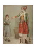 A Lady in Turkish Costume with Her Servant at the Hammam  Mid of the 18th C