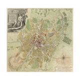 Map of Moscow  1739