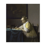 A Lady Writing a Letter  1665-1670