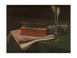 Still Life with Book  Papers and Inkwell  1876