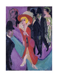 Street with Red Streetwalker  1914-1925