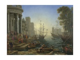 Seaport with the Embarkation of Saint Ursula  1641