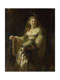 Saskia Van Uylenburgh in Arcadian Costume  1635