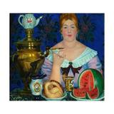 The Merchant's Wife Drinking Tea  1923