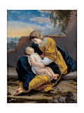 Madonna and Child in a Landscape  1621-1624
