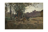 Peasants under the Trees at Dawn  C 1843