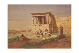 The Erechtheion  the Porch of the Caryatids  1877