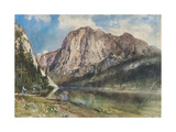 Altaussee Lake and Face of Mount Trissel  1859