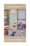 Feasting from Sultan Murad Iii from the Siyer-I Nebi (The Life of Muhamma)  Ca 1594