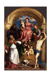 Enthroned Madonna with Child and Saints  Ca 1530