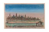 The Jerusalem Map (Ville Capitale De La Palestine Sous David Et Salomon..), 1770 Giclée par Louis Joseph Mondhare