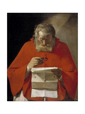 Saint Jerome Reading a Letter  Ca 1628-1629
