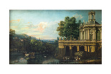 Architectural Capriccio with a Palace  C 1766