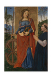 Saint Catherine of Alexandria with a Donor  C 1480