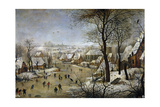 Winter Landscape with a Bird Trap  Ca 1601