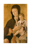 Madonna with Child and Two Donors  1460