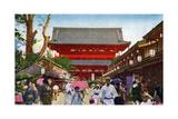 The Asakusa Kannon Temple  Tokyo  Japan  20th Century