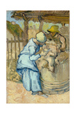 The Sheep-Shearer (After Mille)  1889