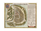 The Moscow Kremlin Map of the 16th Century (Castellum Urbis Moskva)  1662