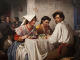 In a Roman Osteria, 1866 Giclée par Carl Bloch