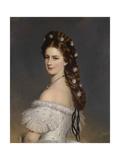 Empress Elisabeth of Austria with Diamond Stars in Her Hair  Ca 1860
