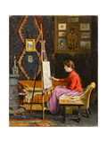 Girl Painter and Her Studio