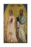 Saints Catherine and Bartholomew  Ca 1350