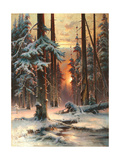 Winter Sunset in the Fir Forest  1889