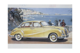 Poster Advertising a Bmw 502 Car  1957