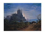 Gothic Church on a Rock by the Sea  1815