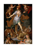 Minerva Victorious over Ignorance  Ca 1591