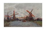 Mills at Westzijderveld Near Zaandam  1871